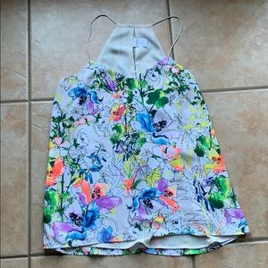 3/$30 Express Floral Barcelona Cami Tank Medium
